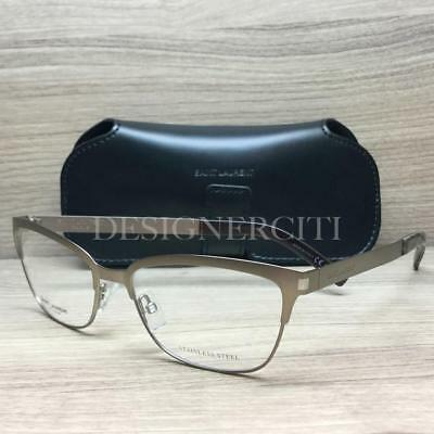 Saint Laurent SL 8 Eyeglasses Matte Brown Ruthenium 2QW Authentic 54mm