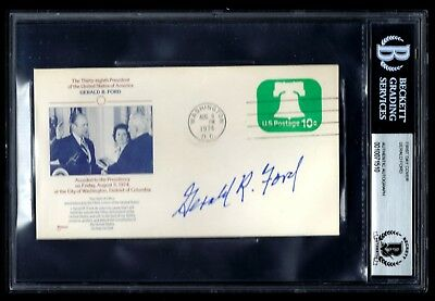 Gerald Ford signed cover BAS Authenticated 38th US President
