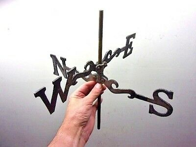 Vtg Weather Vane Parts Aluminum East-West & North-South w/Center Shaft Rustic!!!