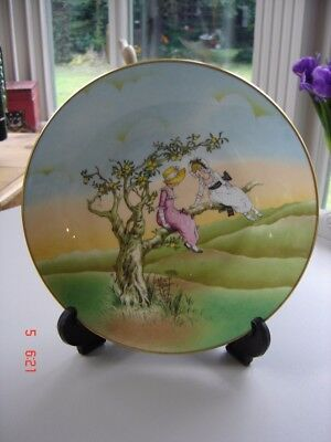 Crown Staffordshire Plate No 2 When we were young ~ girls in an apple tree