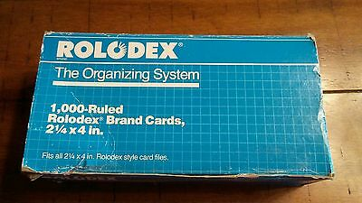 "800 +- Genuine Rolodex Rotary Refill Cards 3 x 5"" Made in USA Cream Color"