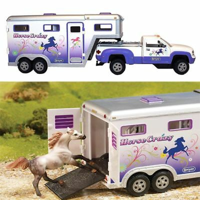 Truck Horse Trailer Play Set Kids Toddler Toys Pretend Truck and Trailer Vehicle