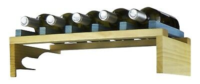 Expovinalia Ex2750 – Stackable Wine Rack For 50 Bottles, Wooden, Pine And Blue