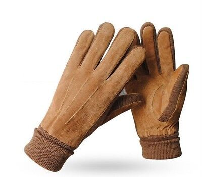 (#1) - Winter Gloves Male Thickened Riding Cotton And Down Cold Keep Warm In