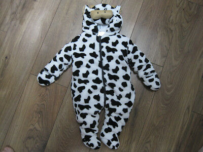Pitter Patter Cow Hooded All In One Suit •New without tags