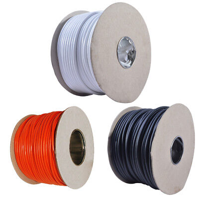3183Y 13 AMP Electrical Cable White Black Orange Round Mains Wire 1.5mm 3 Core
