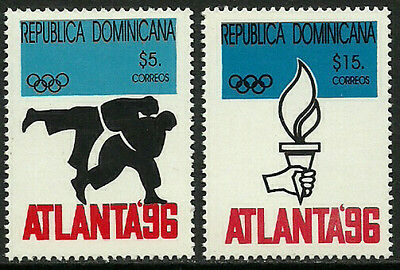 Dominican Rep #1224-5 Mint Never Hinged Set - 1996 Summer Olympics