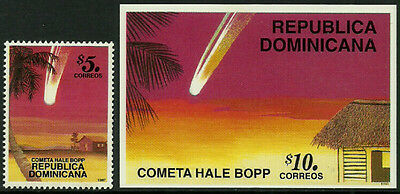 Dominican Rep #1247-8 Mint Never Hinged Set - Comet Hale-Bopp
