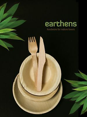 100 - Round Bowls 13 cm Eco friendly Palm Leaf AKA Bamboo