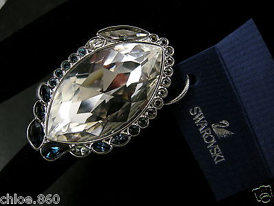 Signed Swarovski  Crystal   Ring Md 55 New In Box Rare Collector !
