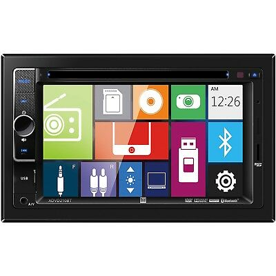"NEW Dual Double 2 Din XDVD210BT DVD/CD/MP3 Player 6.2"" LCD Bluetooth USB AUX SD"
