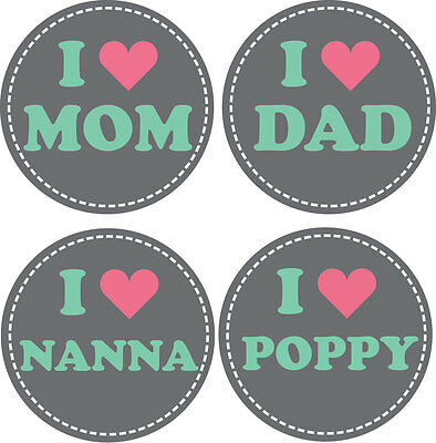 Personalised Baby Stickers, Milestone Stickers_I Lv Mum,Dad,Nanna&Poppy_002