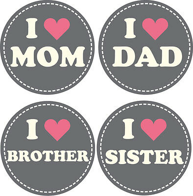 Personalised Baby Stickers, Milestone Stickers_I Lv Mum,Dad,Brother&Sister_001