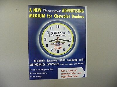 Chevrolet --  Chevy-Time  Clock  Order Form Brochure - Repro,
