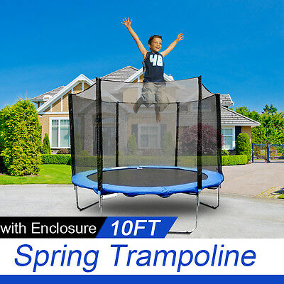 *VIC PICKUP* 10 FT Trampoline Enclosure Set +  Safety Net + Ladder Outdoor
