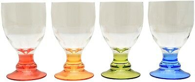 Flamefield Unisex Party Acrylic Bella Wine Goblets (Pack of 4), Assorted