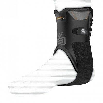 (Large, Black) - Shock Doctor Ankle Stabiliser with Flexible Support Stays
