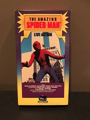 The Amazing Spiderman Live-Action VHS - 1986 - Nicholas Hammond - Marvel Comics
