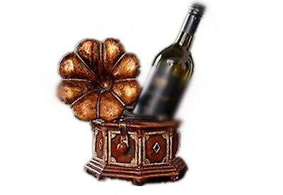 YANFEI Home Resin Wine Rack American Antique Red Gramophone Holds Bottls of