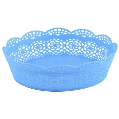 (Blue) - sourcingmap® Plastic Household Kitchen Round Shaped Snack Candy Fruit