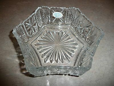 Exclusive Avon Design FOSTORIA Crystal Pool Floral Medley Floating Candle Bowl