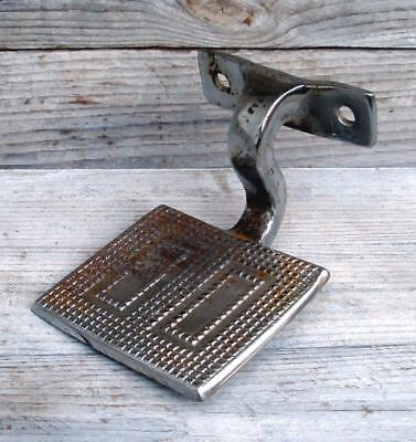 Vintage Chrome Plated Cast Iron Antique Carriage Buggy Sleigh Foot Step Plate