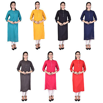 Indian Bollywood Kurta Kurti Designer Women Ethnic Dress