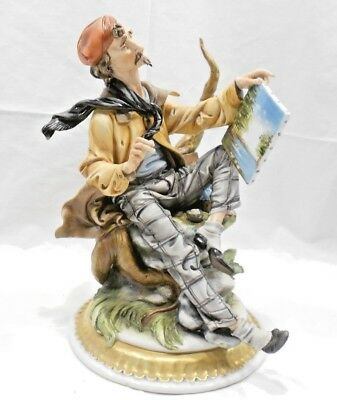 """Capodimonte Ra """"the Artist"""" Sculpture, Signed By Tyche Tosca, Crown N"""