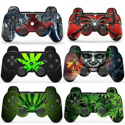 Wireless Bluetooth Joypad Controller + Vinly Skin For Playstation 3 PS3 Consoles