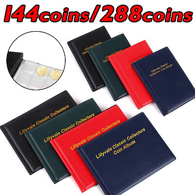 144/288 Collecting Coin Penny Money Storage Album Book Holder Case Collection