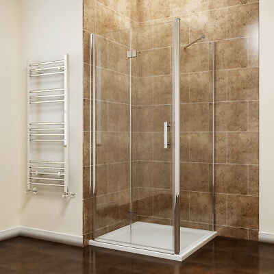 Bifold Shower Door Enclosure Frameless Side Paenl And Tray Screen 6mm Glass