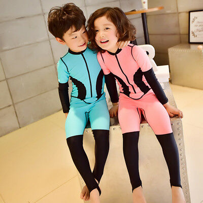 Kids Wetsuits One-Piece Long Sleeve Anti-UV Surfing Snorkeling Swim Diving Suit