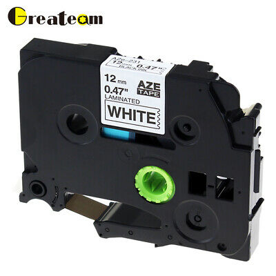 1 PK  TZe231 TZ231 P-Touch Label Tape Compatible for Brother Black on White 12mm