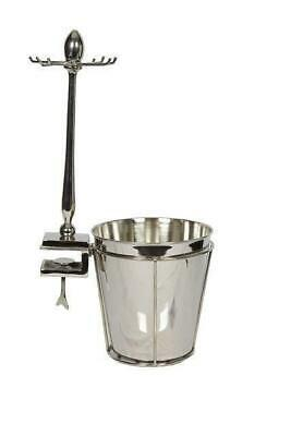 Silver Ice Wine Champagne Bucket Cooler Glass Holder & Table Attachment Fixing