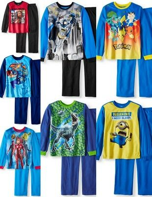 Boys Pajamas Pokemon Spider man Character New