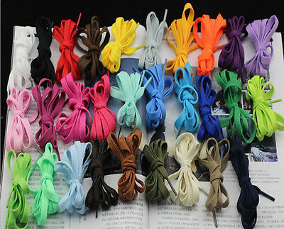 New Sneaker SHOELACES Many Colors shoe lace strings FLAT Athletic