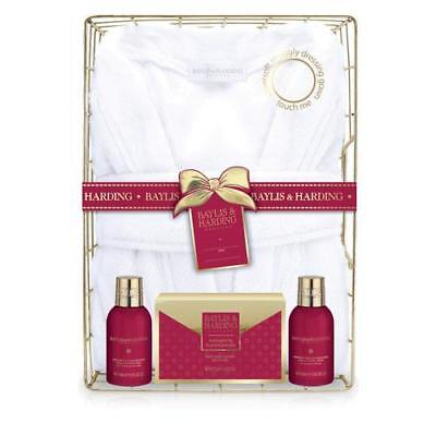 Baylis & Harding Midnight Fig and Pomegranate Dressing Gown Gift Pack FREE P&P