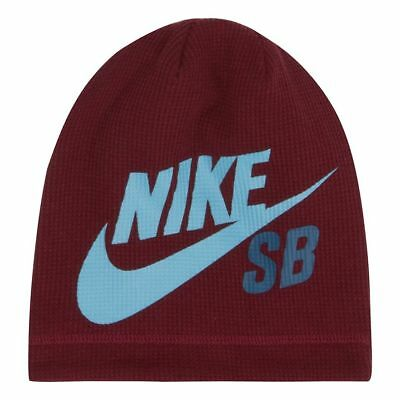 NEW Boys 8 - 20 Nike SB Thermal Red Beanie Youth Warm Winter Hat FREE SHIPPING