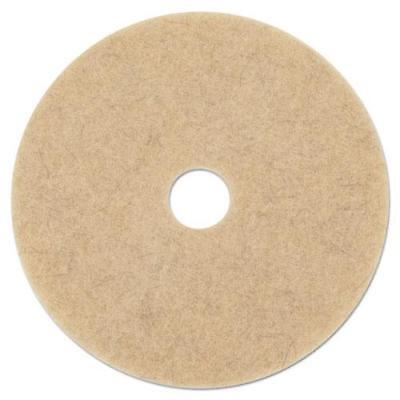"Boardwalk Ultra High-Speed Natural Extra Floor Pads, 17"" Diameter, Case of 5"