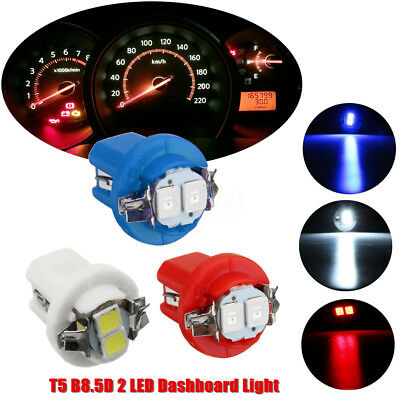12V T5 B8.5D 5050 2LED Coche LED Bombillas Dashboard Tablero Instrumentos Gauge