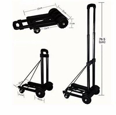 Trolley Compact Folding Foldable Luggage Hand Cart Lightweight Travel Shopping