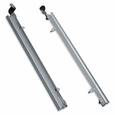 PlexiDor Sliding Tracks with Flip Lock for Pet Doors in Silver, X-Large