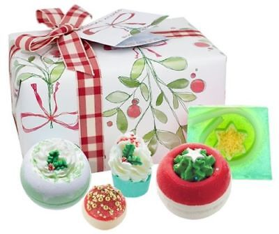 New * Christmas Wishes * Xmas Bomb Cosmetics Luxury Wrapped Bath Pamper Gift Set