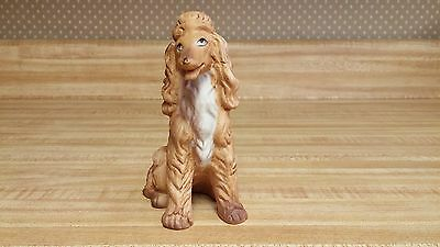 Afghan Hound figurine; proudly sitting, brown/tan, affectionate wide eyes