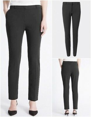New Ex M&S Ladies Black or Grey Tapered Trousers Size 10 - 24 Business Tailored