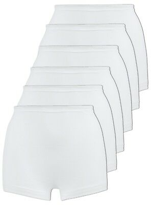 Pack of 6 Women's Cotton Shorts Knickers 2201 Naturana M-6XL White
