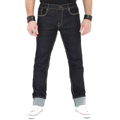 King Kerosin Rockabilly Vintage Retro Denim Jeans Hose - Robin Rinsed Wash