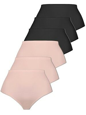 Pack of 6 Women's Brief Knickers with Micromodal 2242 Naturana M-4XL Div Colours