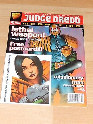 Judge Dredd Megazine - Issue 17 - May 1996 with postcards