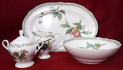 NORITAKE china ROYAL ORCHARD 9416 pattern  5-piece HOSTESS SERVING Set
